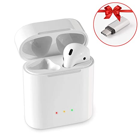 new arrival 53dab 81502 BLEAKTEIR Charging Case for Airpod Replacement Airpod Charger Compatible  with airpods 1/2 Headphones Wireless Charging Case Replacement for Airpods  15 ...
