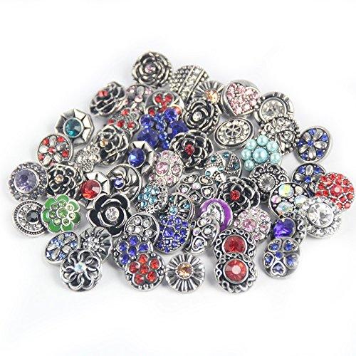 Lovglisten Mixed Random 12MM Snap Button Jewelry Chunk Charms 10PCS