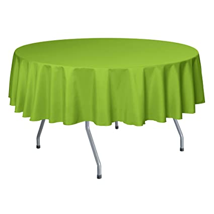 Superieur Ultimate Textile 72 Inch Round Polyester Linen Tablecloth Lime Green