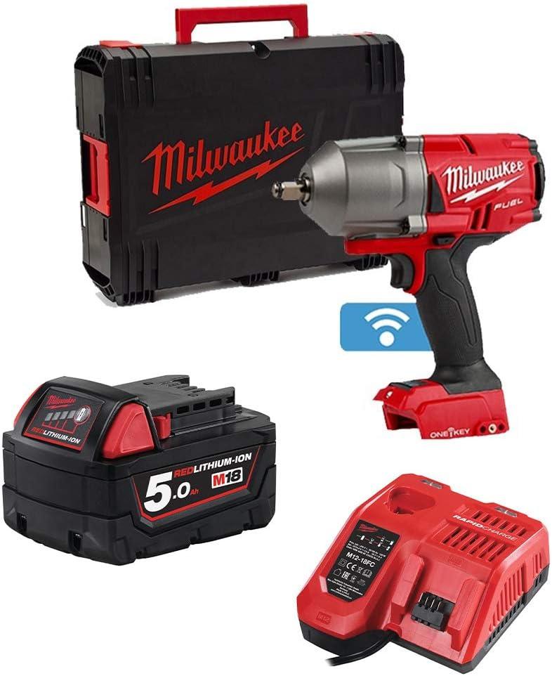Milwaukee M18ONEFHIWF12-0 M18 One Key Impact Wrench /& M18B5 18v Battery