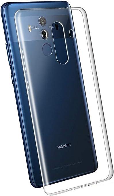 LUCKLYSTAR® Funda Huawei Mate 10 Pro, Transparente Silicona Funda ...