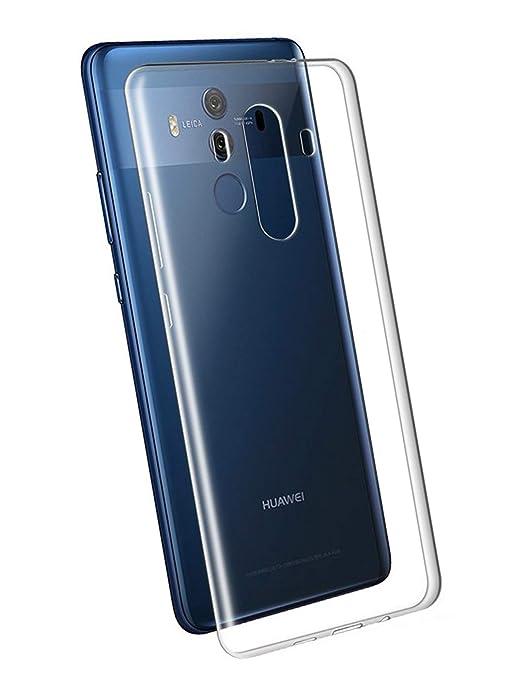LUCKLYSTAR® Funda Huawei Mate 10 Pro, Transparente Silicona Funda para Huawei Mate 10 Pro Carcasa Flexible Claro Ligero TPU Fundas Transparente
