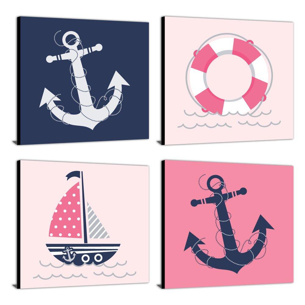 Baby Nash S Vintage Nautical Nursery: Nursery Prints Nautical Baby Wall Decor Sailboat Kids Room