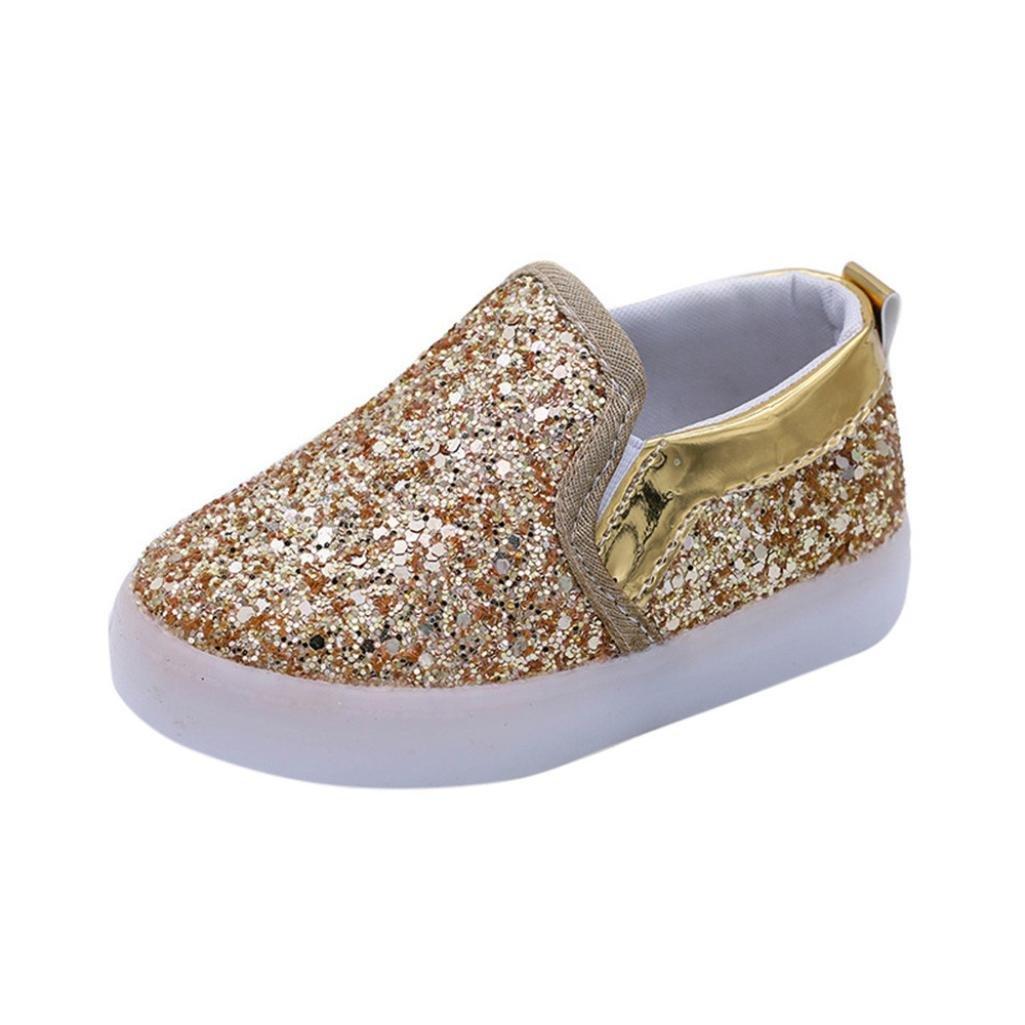 Transer pour 1-6 Ans Bébé, Mode bébé garçon Fille LED Sneakers Lumineux Tout-Petits Casual Chaussures colorées SB-123