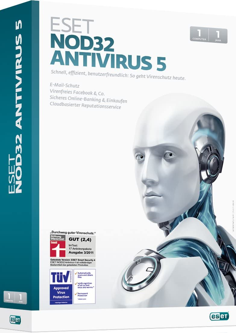 Eset NOD32 Antivirus5, 1PC - Seguridad y antivirus (1PC, 1 usuario(s), 1 Año(s), 400 MB, 100 MB, PC): Amazon.es: Software