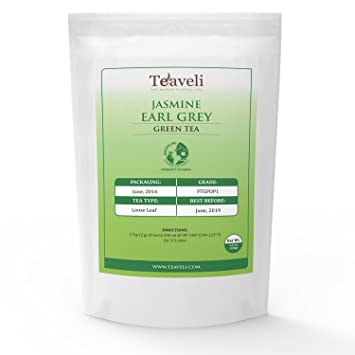 Amazon Com Premium Earl Grey Jasmine Loose Leaf Darjeeling Green