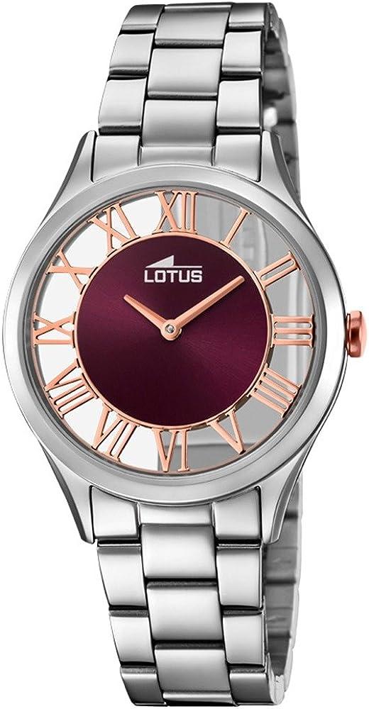 Lotus Reloj Mujer de Cuarzo analógico con Correa en Acero Inoxidable 18395/5