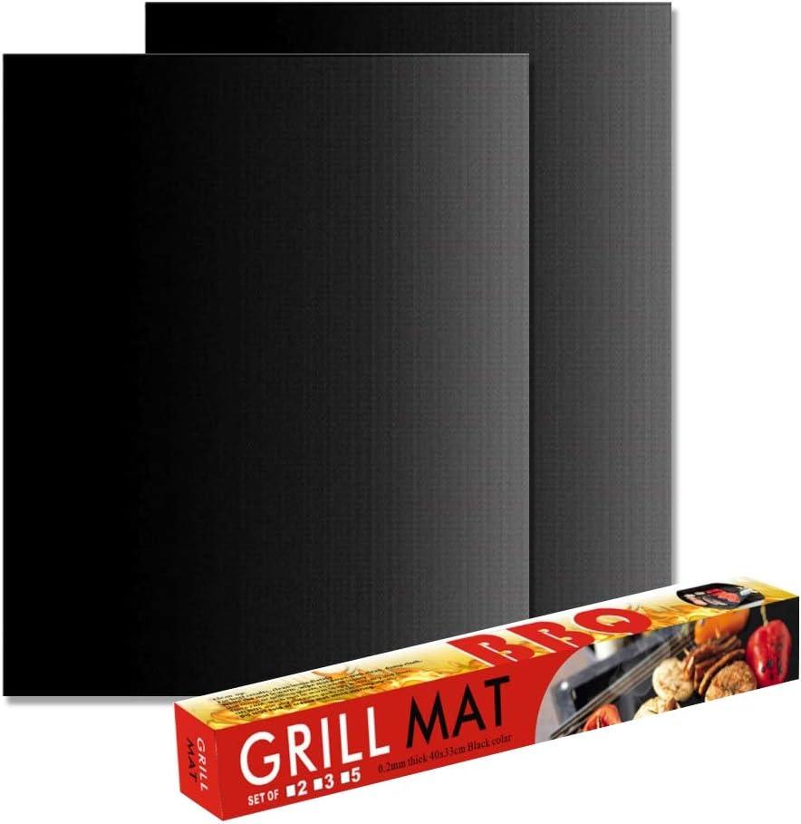 Lorjoyx Non-Stick BBQ Grill Mat Barbecue de Cuisson Tapis Liners t/éflon r/ésistant /à la Chaleur du Parti r/ôti Outils de Cuisson r/éutilisables