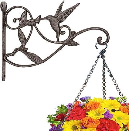 Hanging Basket Brackets Plant Hanger Balcony Garden Hook Wall Decoration Iron US
