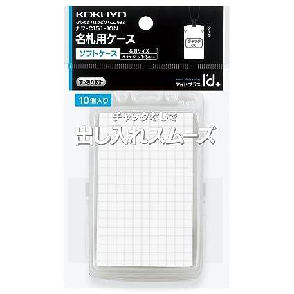 Kokuyo tarjeta de nombre funda rígida para Plus Pack de 10 ...