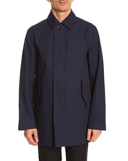 1285d6a645 Lacoste Men's Trench Coat with Details 52 Blue at Amazon Men's ...