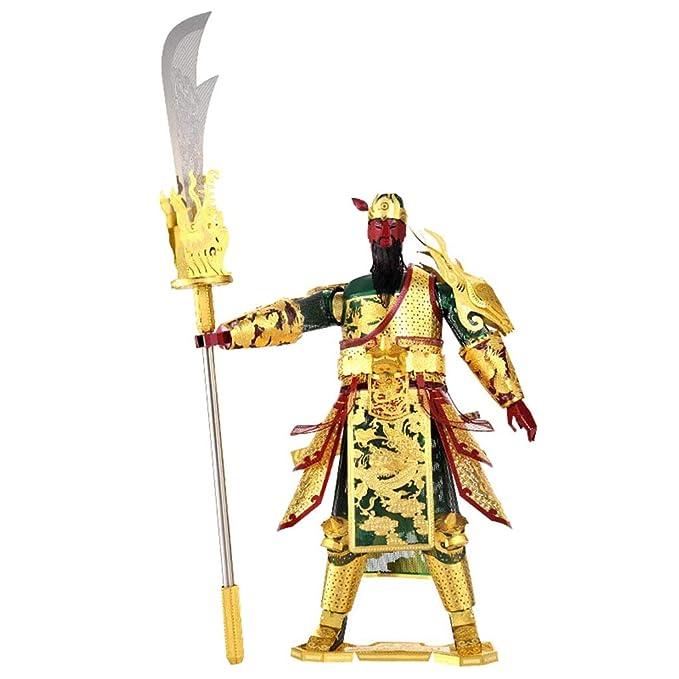 Homyl Juguete de Rompecabezas de Metal 3D Construcción Arquitectónica Ornamento de Hogar Oficina - Figura de Guan Yu(14.5x5.5x22.5cm): Amazon.es: Juguetes y ...