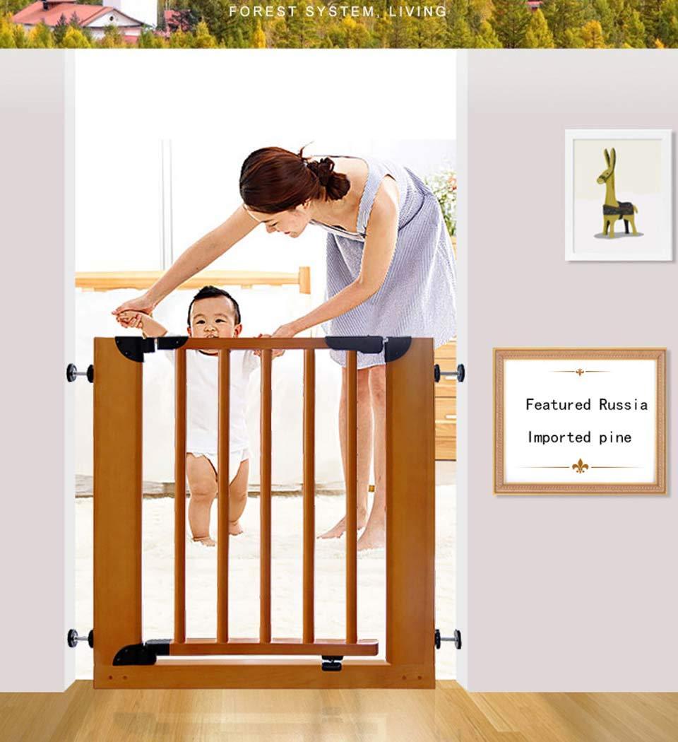 ペットの家輸入松ペットドア、穴のあいた装飾的な木製のドアのない;幅74-85cmの幅に適した、高さ74cm、階段用ペットゲート,(73~85)*74cm (73~85)*74cm  B07QS7J98Y