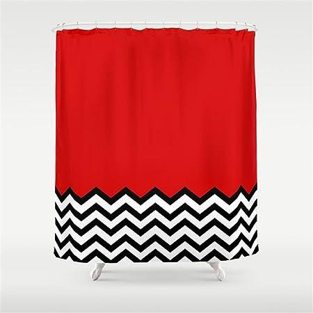 Hbesa Black Lodge Dreams Twin Peaks Shower Curtain 78x72 Inch