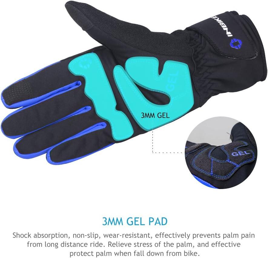 INBIKE Gants Ski Snowbord Coupe-Vent Thermique Imperm/éable Gants Gel Rembourr/é Gants Tactiles Gants Sports Hiver pour VTT Velo Randonn/é Chasse Camping
