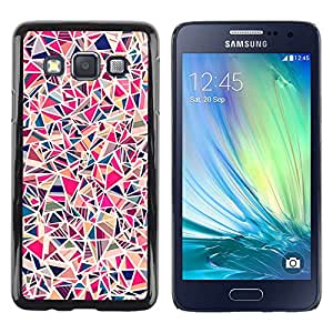Be Good Phone Accessory // Dura Cáscara cubierta Protectora Caso Carcasa Funda de Protección para Samsung Galaxy A3 SM-A300 // Art Painting Colorful Blue