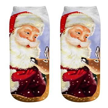 Calcetines de Navidad 3D Patrones Calcetín Calcetines de Navidad Calor de Invierno Santa Claus Monigote de Nieve Reno Algodón Media Manguera Niños Navidad ...
