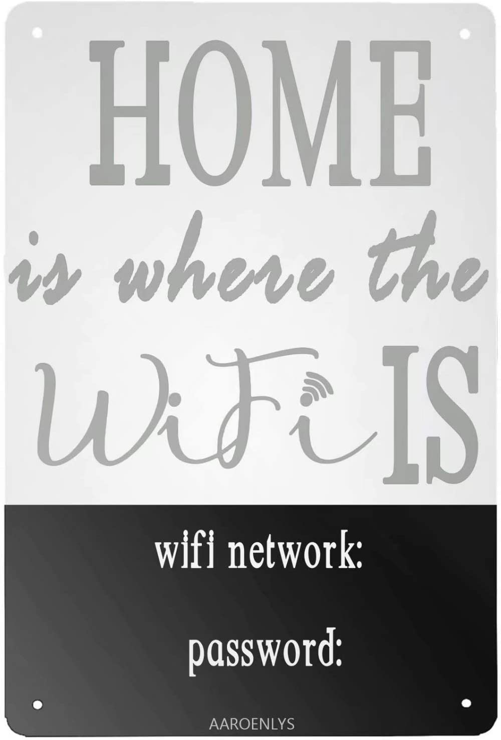 AAROENLYS Retro Sign Tin Sign Home is Where The WiFi is Aluminum Sign Wall Decor Shed Garage Man Cave Kitchen 8 X 12 Inch