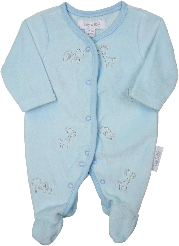 Babyprem Fr/ühchen Schlafanzug Nicki-pl/üsch Elefanten und Giraffen