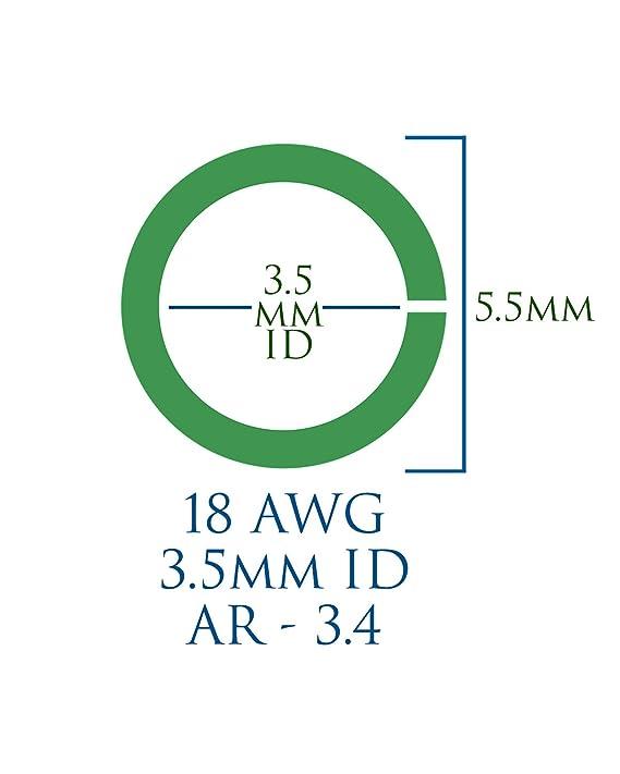 Weave Got Maille 18-Gauge 5mm Graffiti Enameled Copper Jump Ring Mix 1 oz