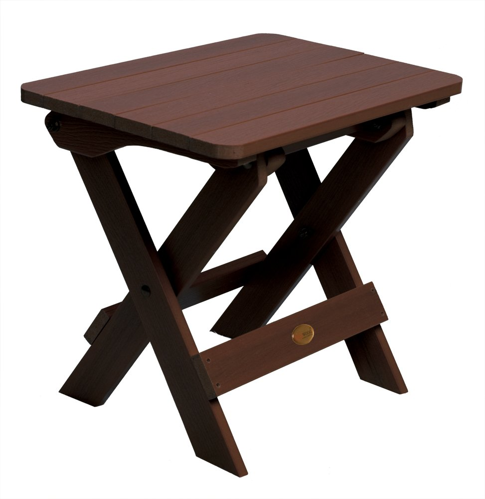 Amazon.com : Highwood Folding Adirondack Side Table, Weathered Acorn :  Patio Side Tables : Garden U0026 Outdoor
