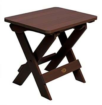 Highwood Folding Adirondack Side Table, Weathered Acorn