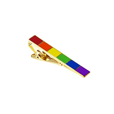 QYY Clip de Corbata de latón Seis Colores Rainbow Gift Oro ...