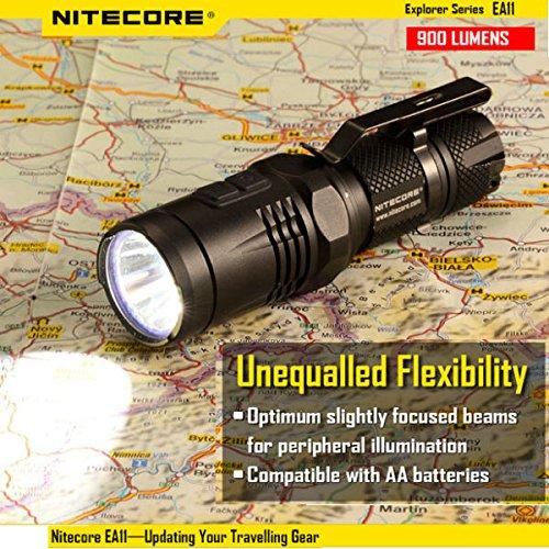 Nitecore EA11 XM-L2 900lumens EDC LED Flashlight 14500/AA