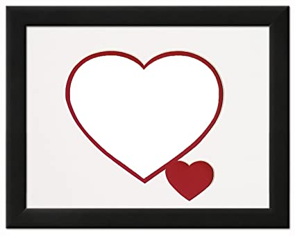 Amazon.com: Heart & Love Picture Frame - Black Wood Frame With Heart ...