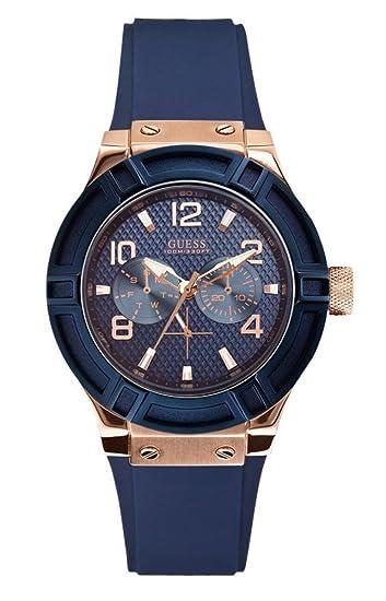 Guess Reloj Multiesfera para Mujer de Cuarzo con Correa en Caucho W0571L1: Amazon.es: Relojes