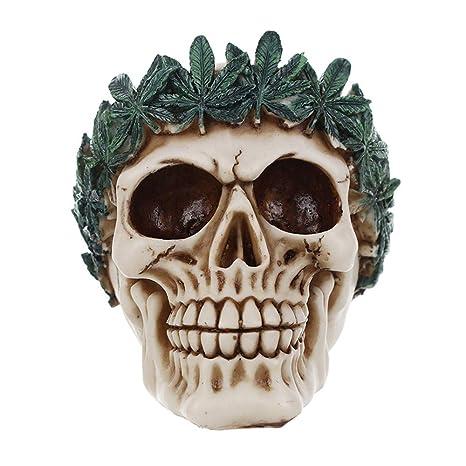 sammid skulls halloween props human skull halloween home party decor realistic looking skeleton skull for