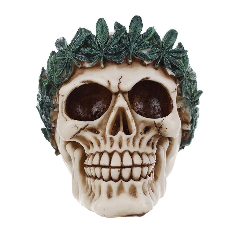 Sammid Skulls Halloween Props, Human Skull Halloween Home Party Decor Realistic Looking Skeleton Skull for Best Halloween Decoration