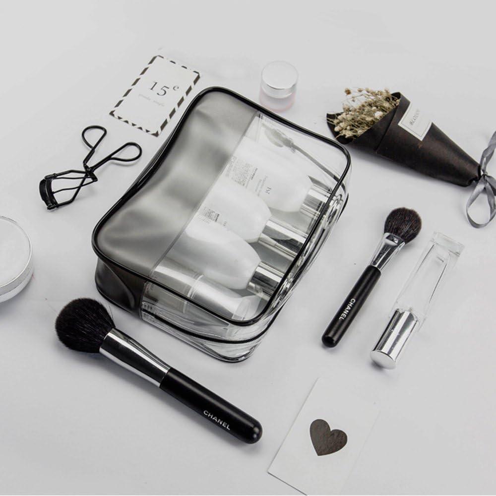 Bolsa de cosméticos, TSA 3 – 1-1 claro viaje Toiletry maquillaje bolsa, portátil resistente & resistente al agua PVC Fashion bolso de mano, bolsa de aseo de viaje, bolsa de cosméticos, perfecto