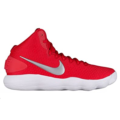 d20aa284fab7 Nike Mens Hyperdunk 2017 TB Basketball Shoe University Red Metallic Silver  White Size 12 M US  Buy Online at Low Prices in India - Amazon.in