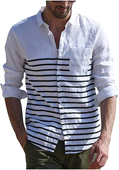 Camisas Hombre Manga Larga Blusas Hombre Manga Larga Casual ...