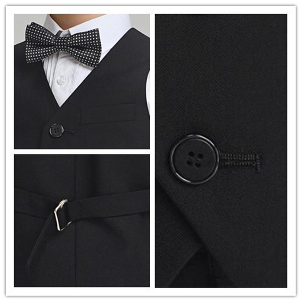 Fankeshi Boys 4 Button Formal Suit Vest