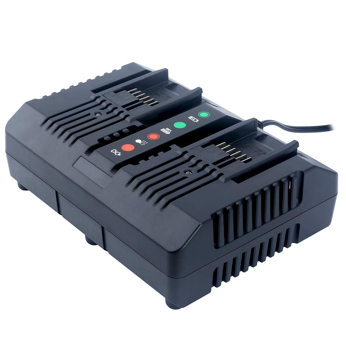Lasica WA3875 20V Lithium Charger Replacement for WORX WA3875 20 Volt Li-ion Dual Port Charger, Compatible With Worx 18V/20V Li-Ion Battery WA3525 WA3578 WA3520 WA3575 WA3512 WA3512.1 WA3522 WA3544