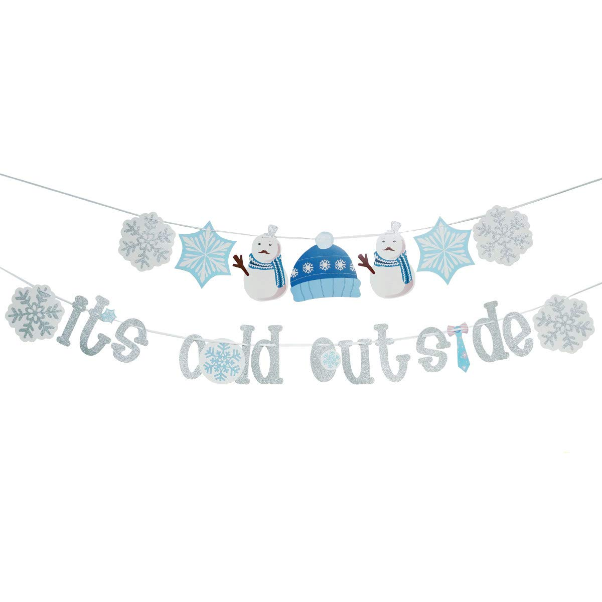 Baby It's Cold Outside Banner - Christmas Snowflake Winter Holiday Home Decor Garland Winter Party Decorations Baby Shower Party Photo Props
