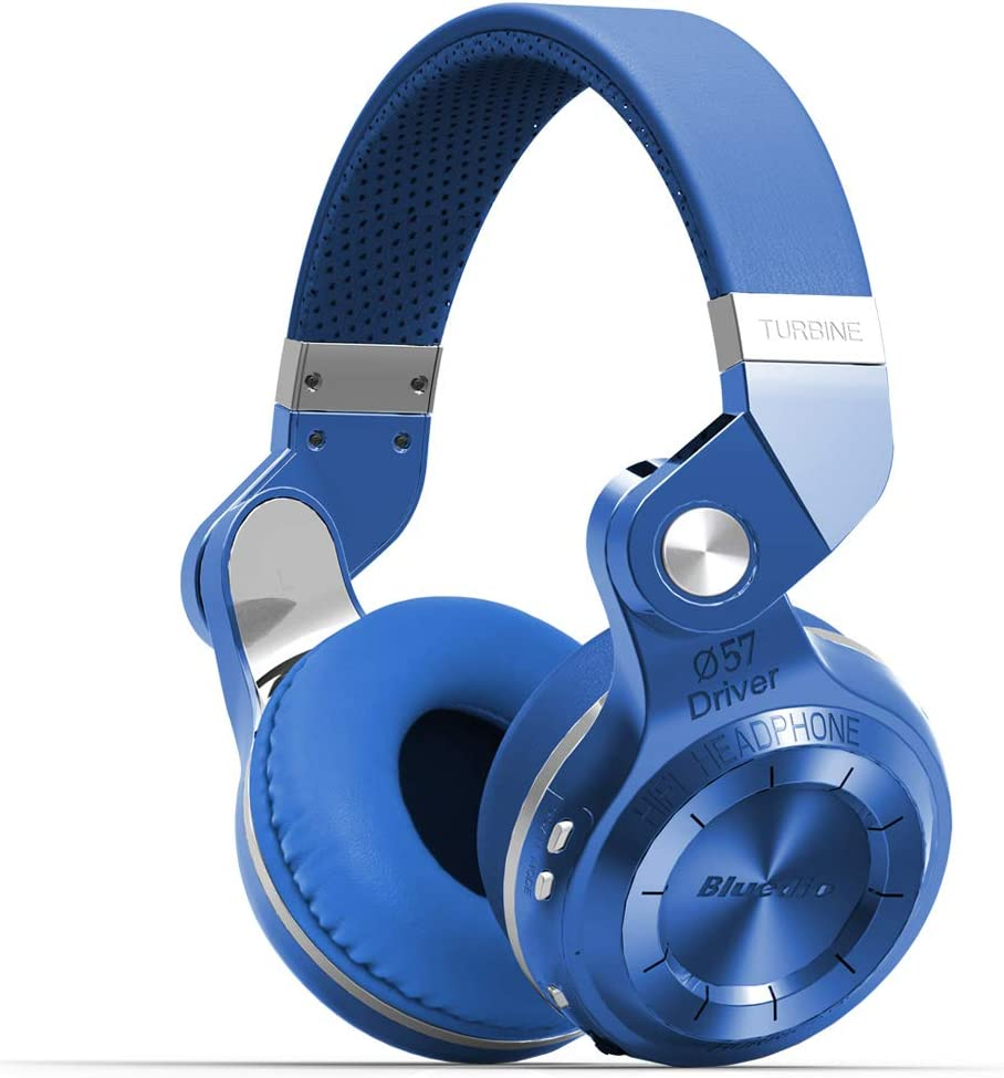 Bluedio Turbine 2 Shooting Brake T2SLCA001 - Auriculares inalámbricos Bluetooth con micrófono plegable, color azul