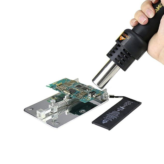 vogvigo estación de soldadura digital 500 W, 2 en 1 Rework estación de soldadura y aire caliente LCD 200 - 480 °C: Amazon.es: Bricolaje y herramientas