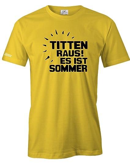 19c2578f0ec389 TITTEN RAUS ES IST SOMMER - HERREN T-SHIRT  Amazon.de  Bekleidung