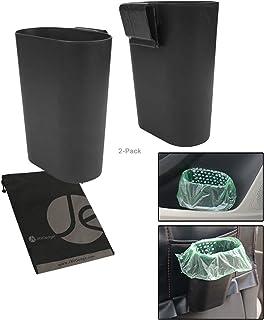 JAVOedge (2 PACK) Car Side Door Panel Clip on Storage / Trash Holder (