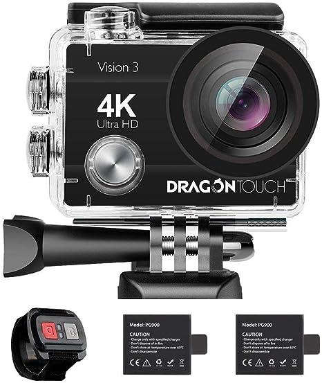 Dragon Touch Cámara Deportiva 4K WiFi 16MP Cámara de Acción con ...