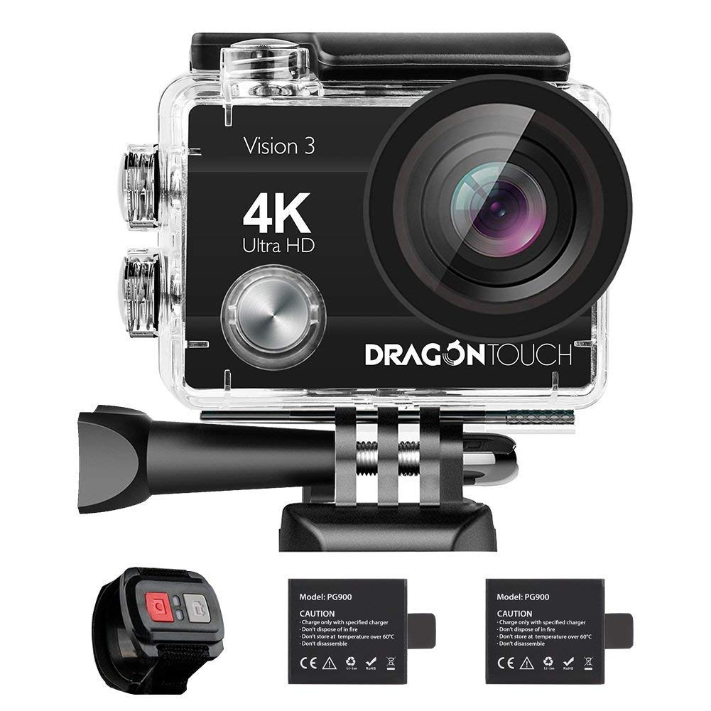 Dragon Touch 4K 16MP WiFi Action Cam