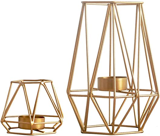 20xKerzenständer Gold geometrische Form Kerzenhalter Kerzen Halter Tischdeko