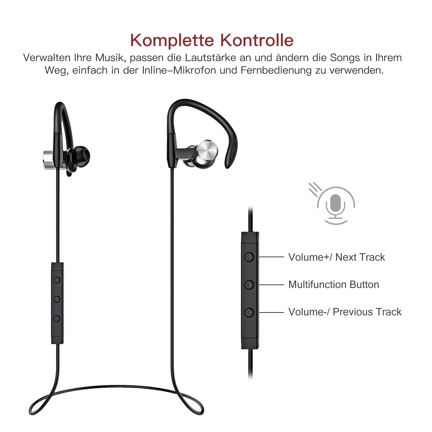lopoo bluetooth 4 1 kopfh rer sport wireless headset. Black Bedroom Furniture Sets. Home Design Ideas
