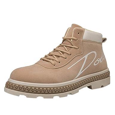 be668f7f8a402 Kinlene Hombres Botas Botines Zapatos de Trabajo Botines de Trabajo para  Adultos de Corte Alto Ocasional Zapatillas de Deporte  Amazon.es  Ropa y  accesorios