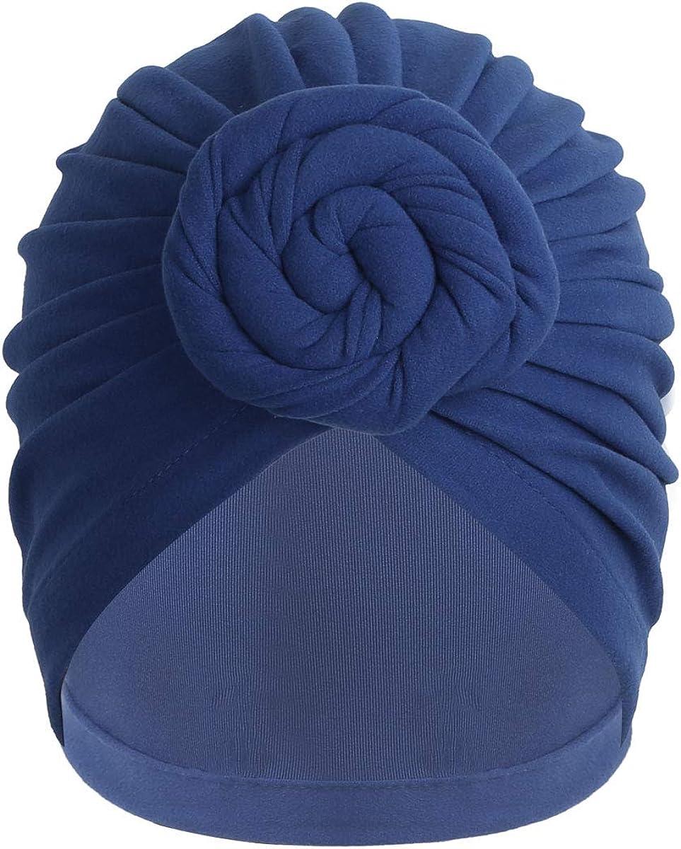 IEFIEL Bonnet Turban Chimio Coton pour Filles Femmes Chapeaux Bonnet de Bain Bandeau Foulard Front Crois/é Musulmanes Cheveux Sortie