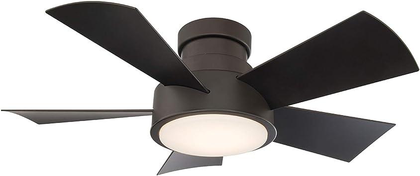 "Ceiling Fan With Light 56/"" LED Low Profile Flush Mount 5 Blades Espresso Bronze"