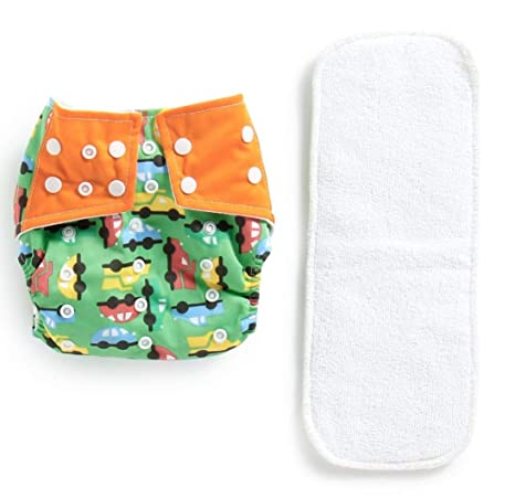 10 Pieces Reusable Pure Cotton Baby Cloth Diaper Nappy Liners Insert 3 Layers KL
